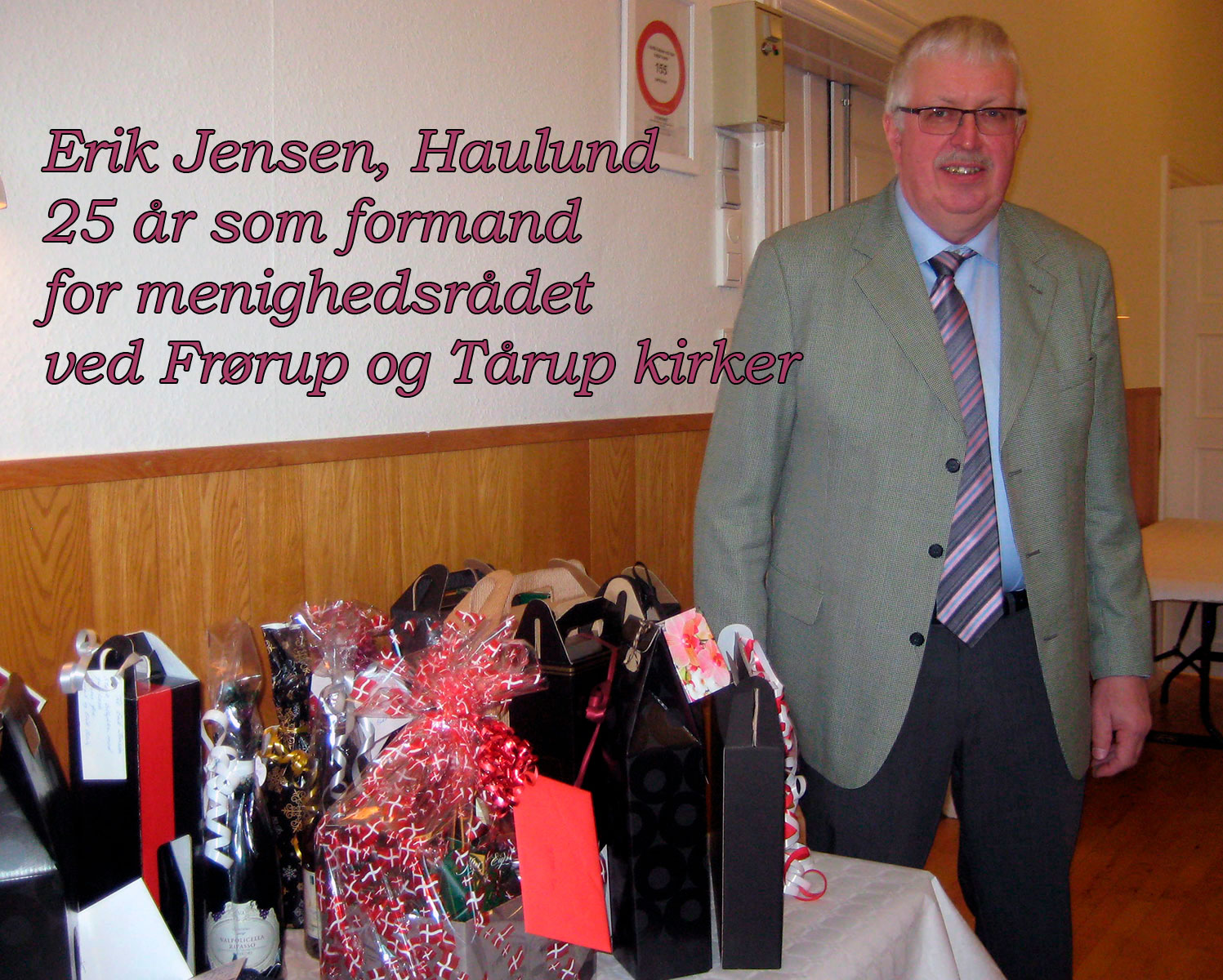 Reception for Erik Jensen i Tårup Forsamlingshus